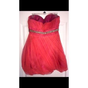 Alyce Paris Dresses - Pink and Orange Homecoming Dress Size 8